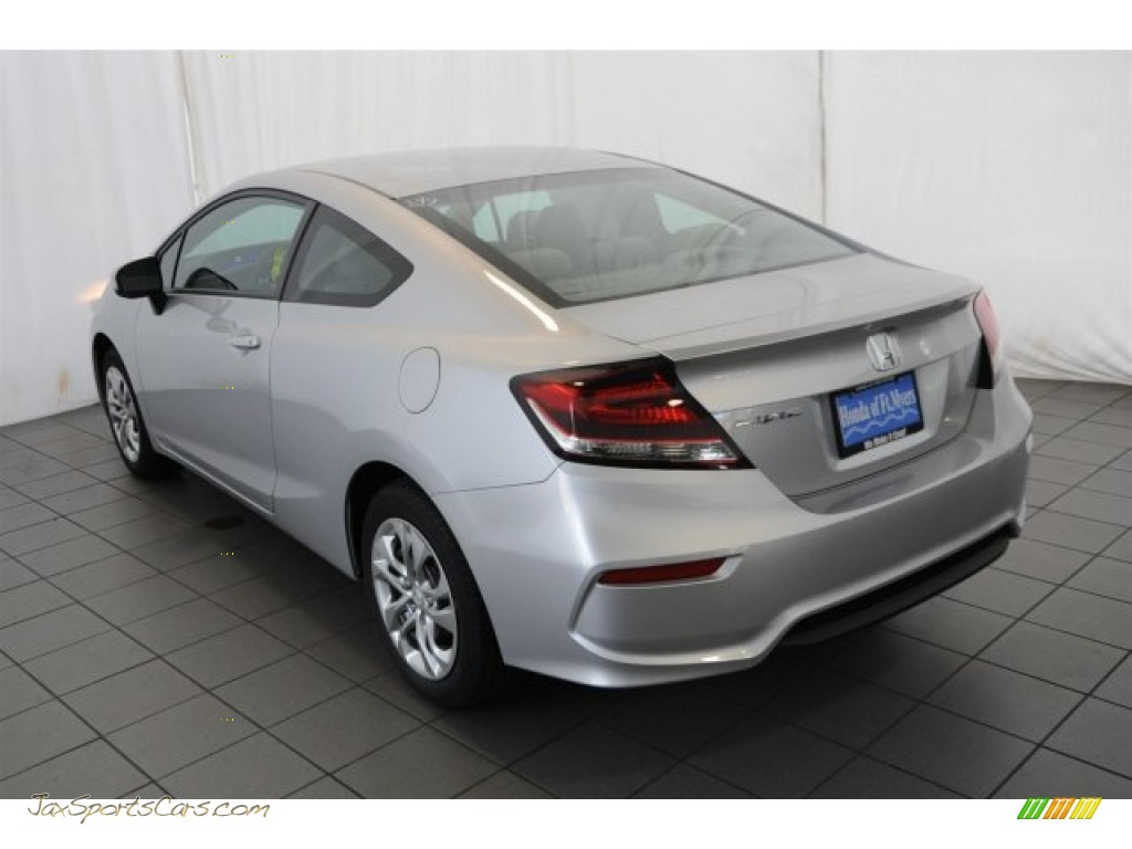 2015 Honda Civic Lx Coupe In Alabaster Silver Metallic