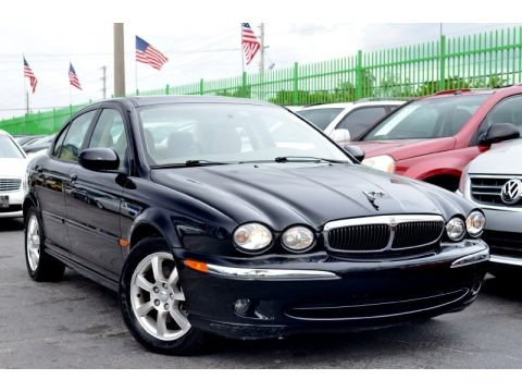Ebony Black 2004 Jaguar X-Type 2.5