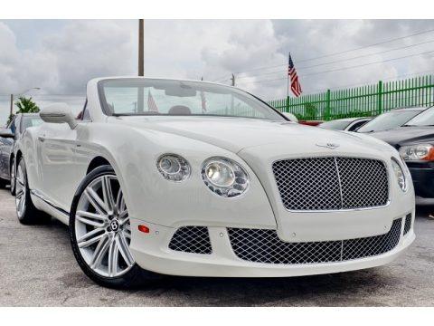 Arctica White 2014 Bentley Continental GTC Speed