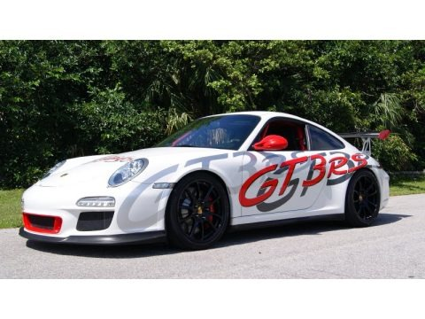 Carrara White/Guards Red 2011 Porsche 911 GT3 RS