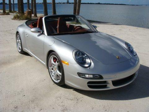 Arctic Silver Metallic 2005 Porsche 911 Carrera S Cabriolet