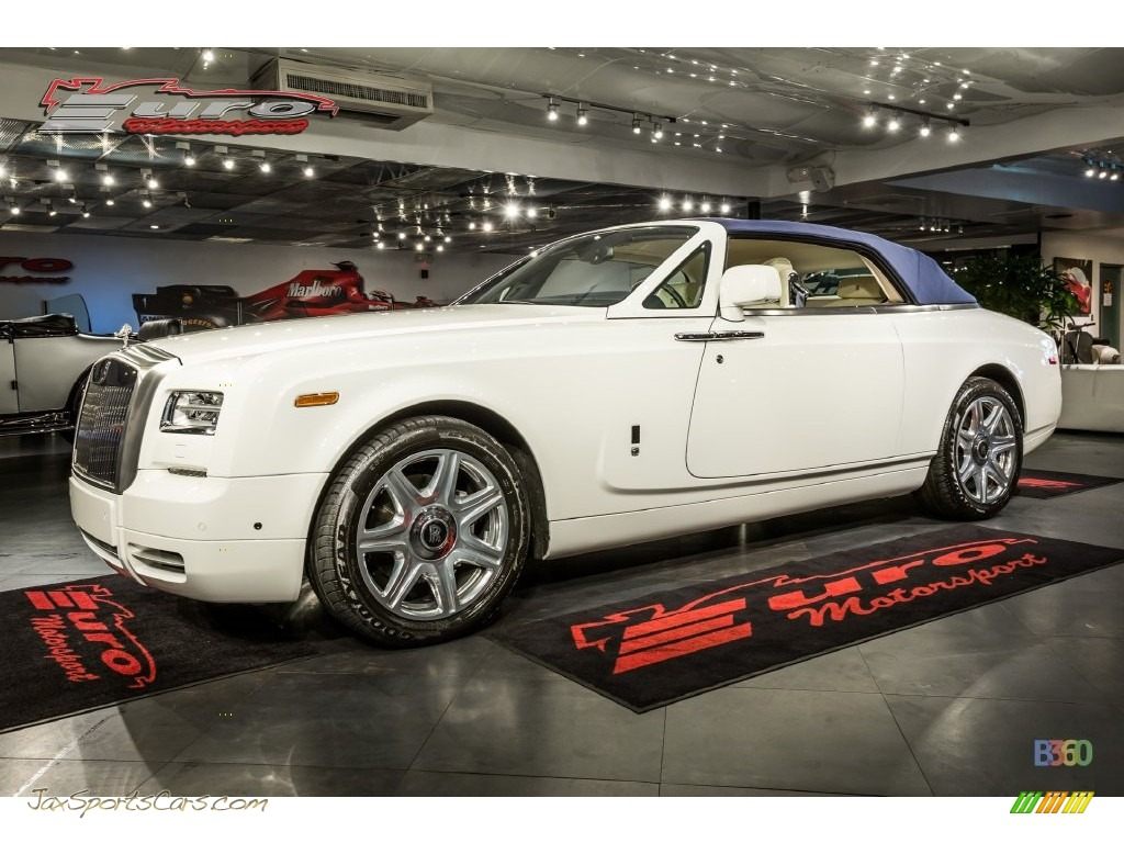 2013 Phantom Drophead Coupe - Arctic White / Creme Light photo #1