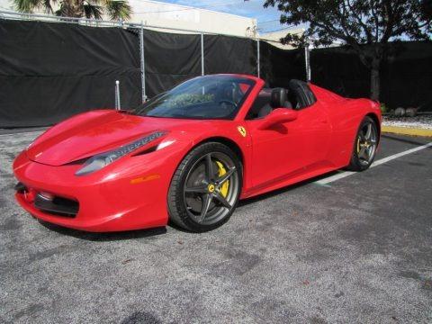 Rosso Corsa (Red) 2012 Ferrari 458 Spider