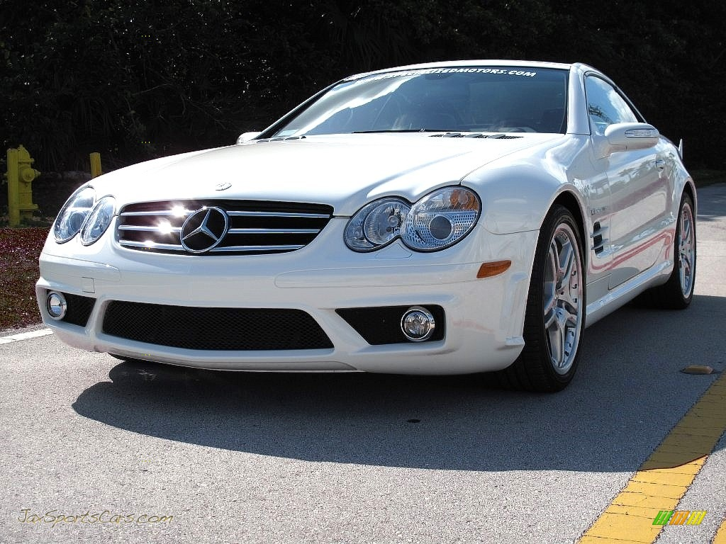 2007 SL 55 AMG Roadster - Alabaster White / Black photo #11