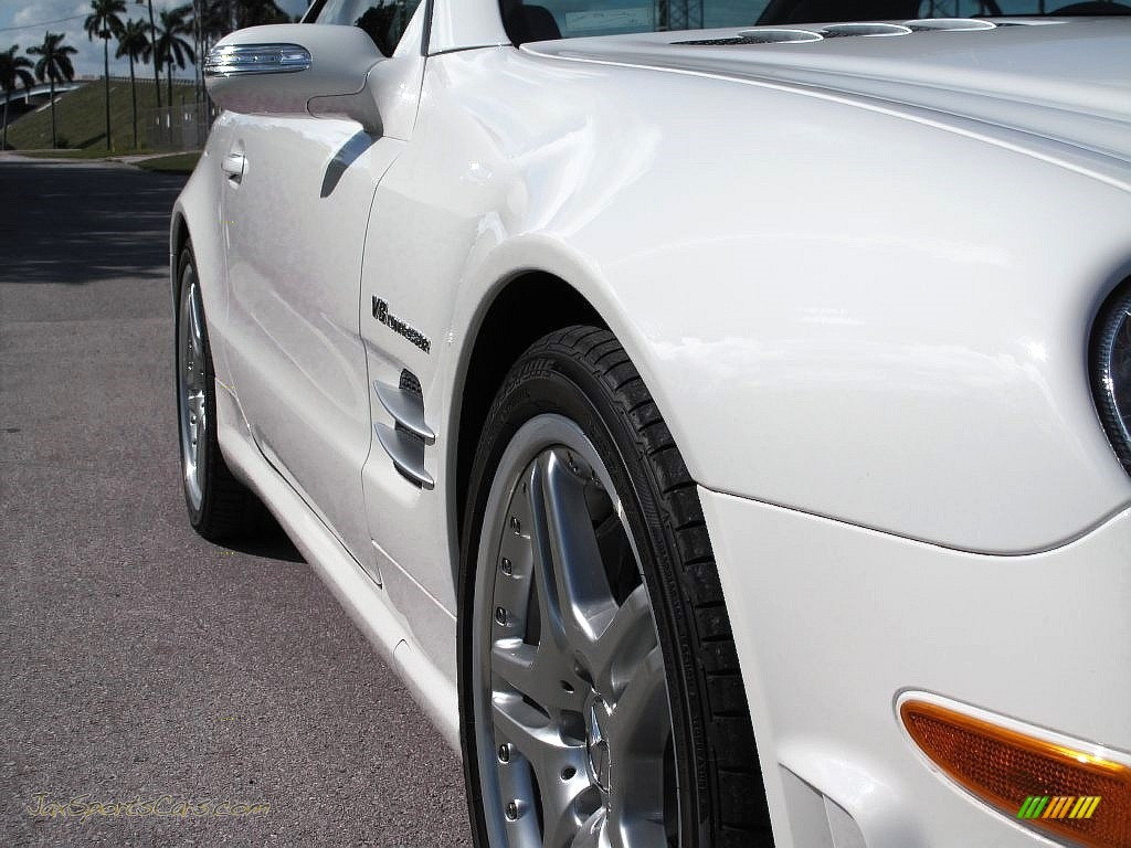 2007 SL 55 AMG Roadster - Alabaster White / Black photo #15