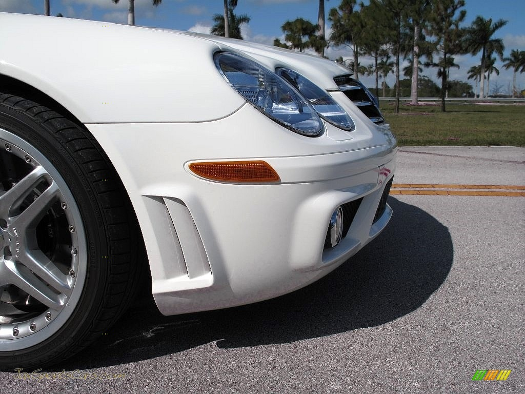 2007 SL 55 AMG Roadster - Alabaster White / Black photo #16