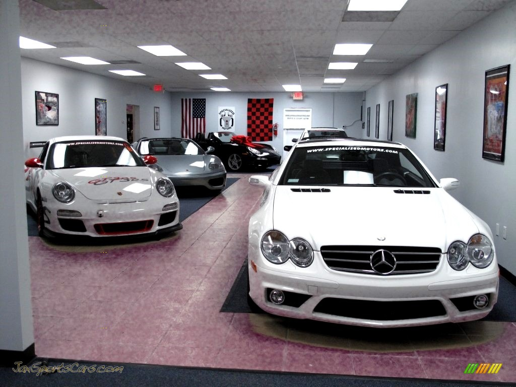 2007 SL 55 AMG Roadster - Alabaster White / Black photo #67