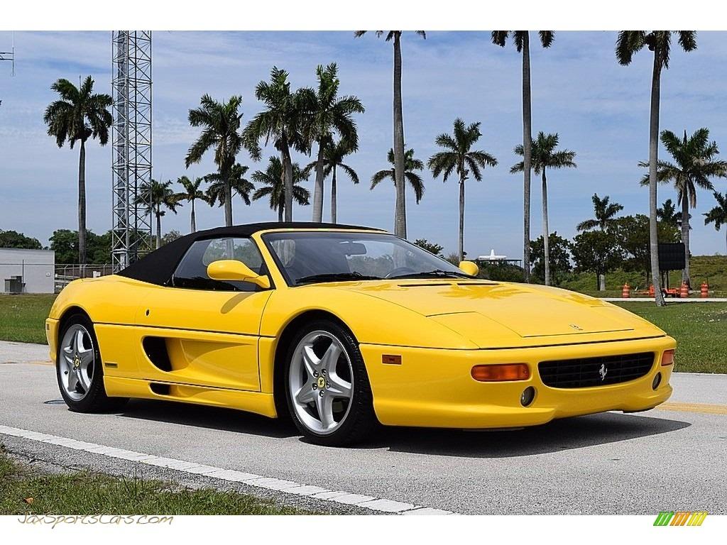 1995 F355 Spider - Giallo Modena (Yellow) / Black photo #2