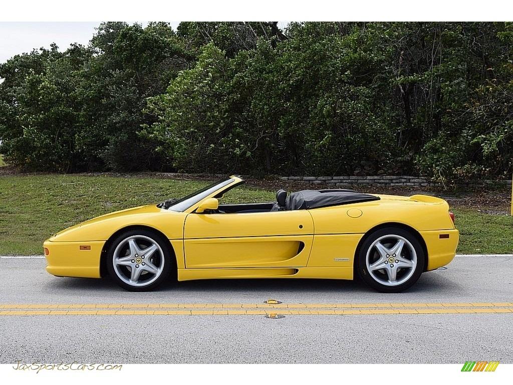 1995 F355 Spider - Giallo Modena (Yellow) / Black photo #5