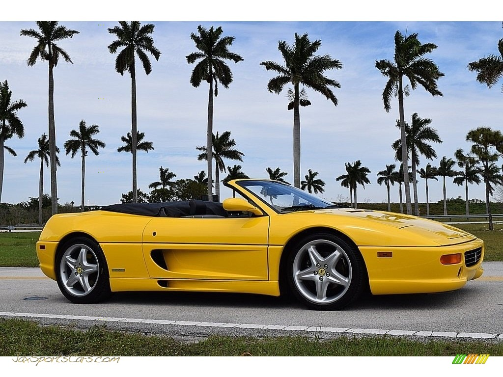 1995 F355 Spider - Giallo Modena (Yellow) / Black photo #6