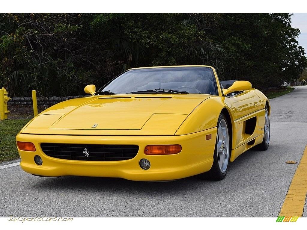 1995 F355 Spider - Giallo Modena (Yellow) / Black photo #8