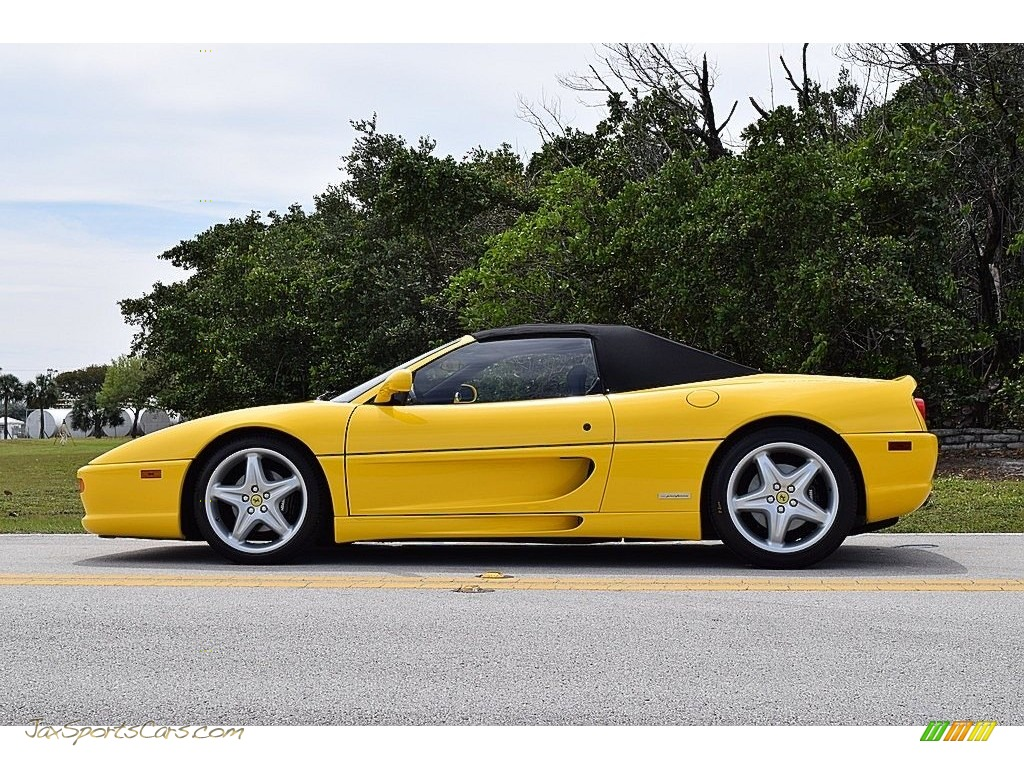 1995 F355 Spider - Giallo Modena (Yellow) / Black photo #10
