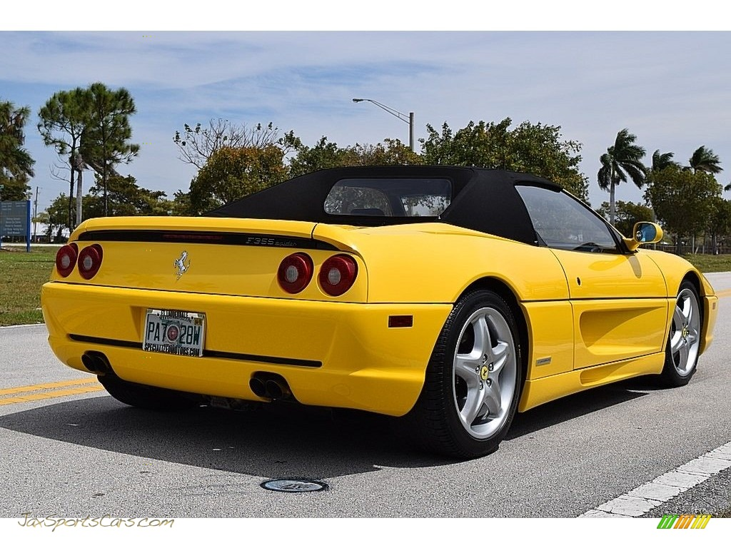 1995 F355 Spider - Giallo Modena (Yellow) / Black photo #16
