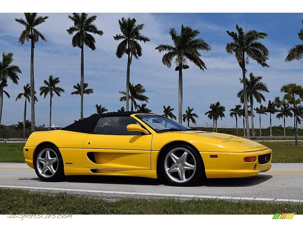 1995 F355 Spider - Giallo Modena (Yellow) / Black photo #18