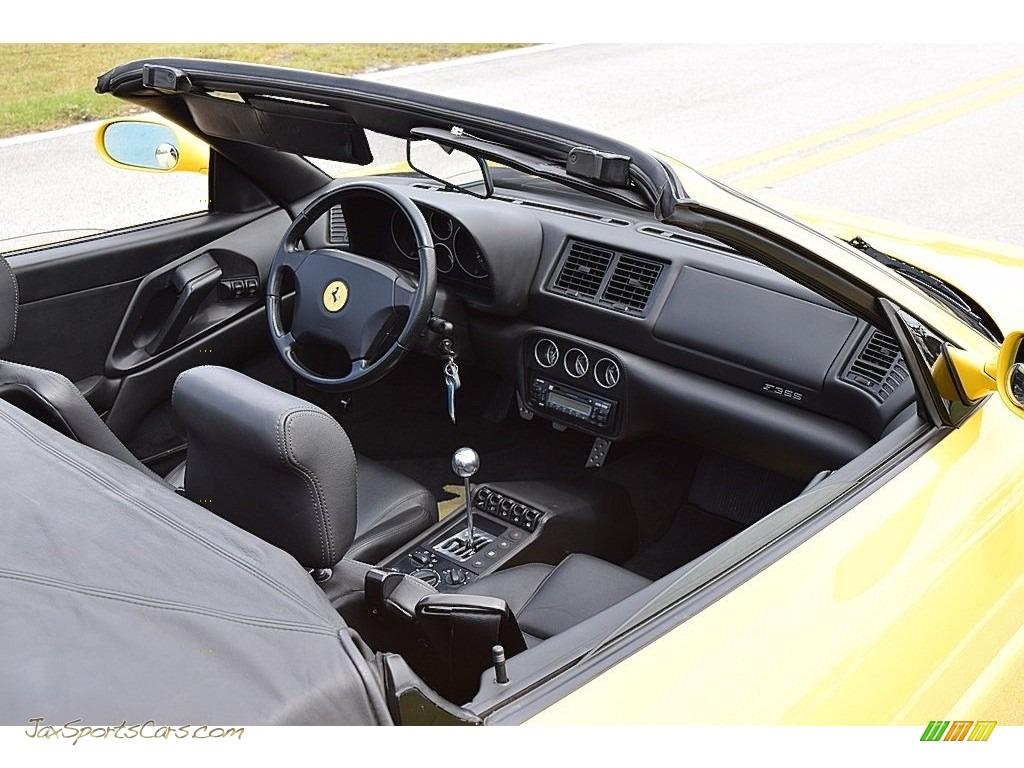 1995 F355 Spider - Giallo Modena (Yellow) / Black photo #54