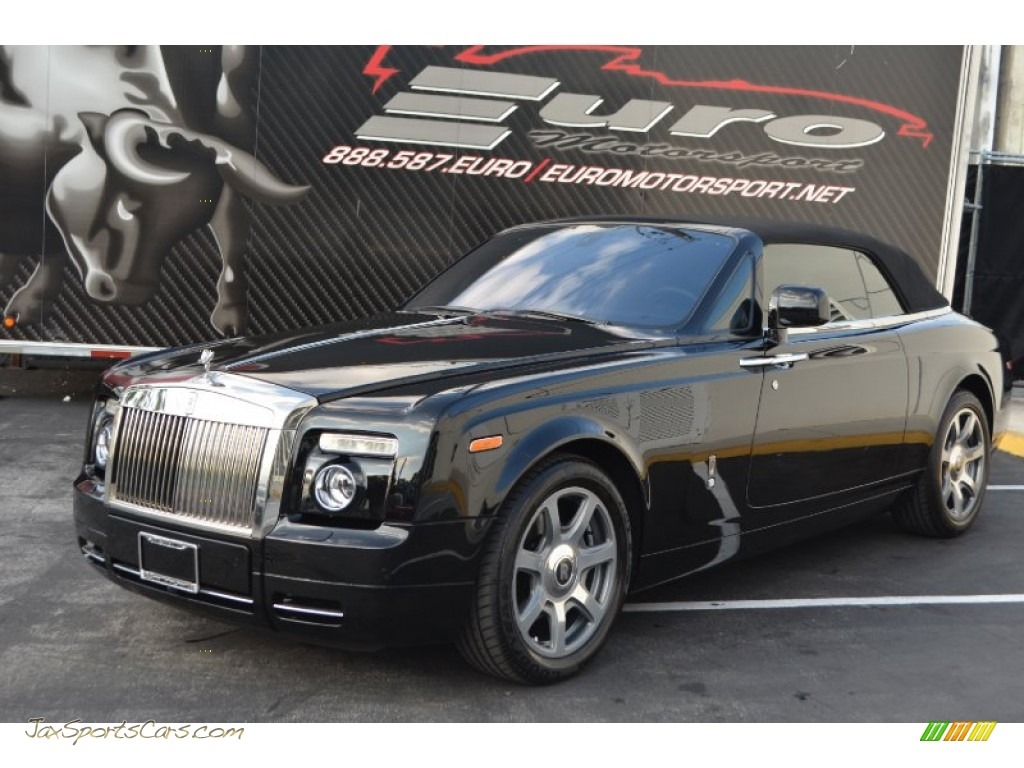 2010 Phantom Drophead Coupe - Black / Black photo #1