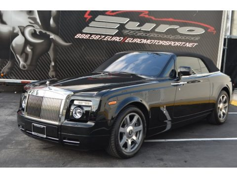 Black 2010 Rolls-Royce Phantom Drophead Coupe