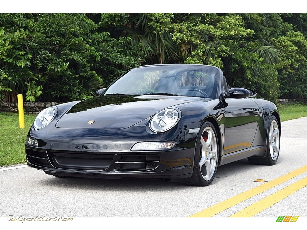 2006 911 Carrera S Cabriolet - Black / Black photo #1