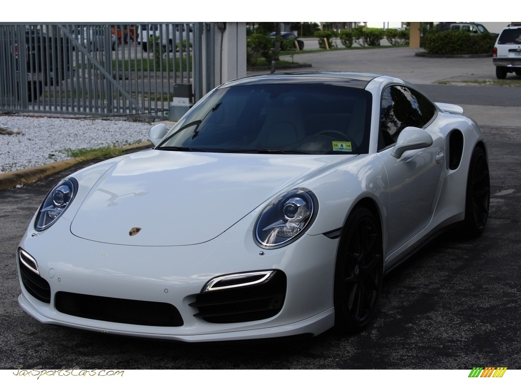 2014 911 Turbo Coupe - White / Black/Platinum Grey photo #1