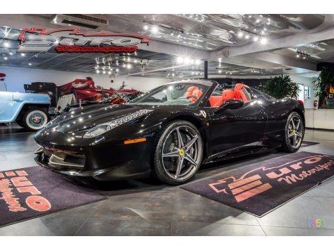 Nero Pastello (Black) 2013 Ferrari 458 Spider