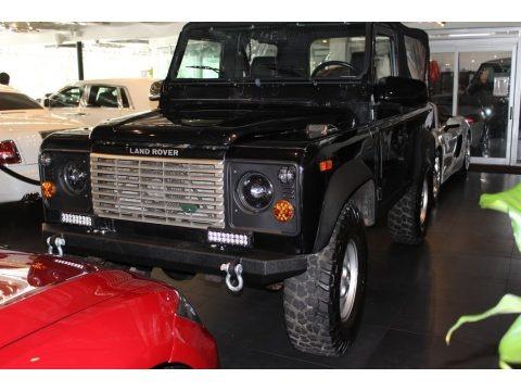 Black 1995 Land Rover Defender 90 Soft Top