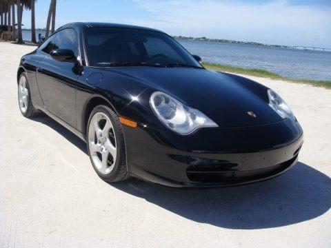 Black 2004 Porsche 911 Targa