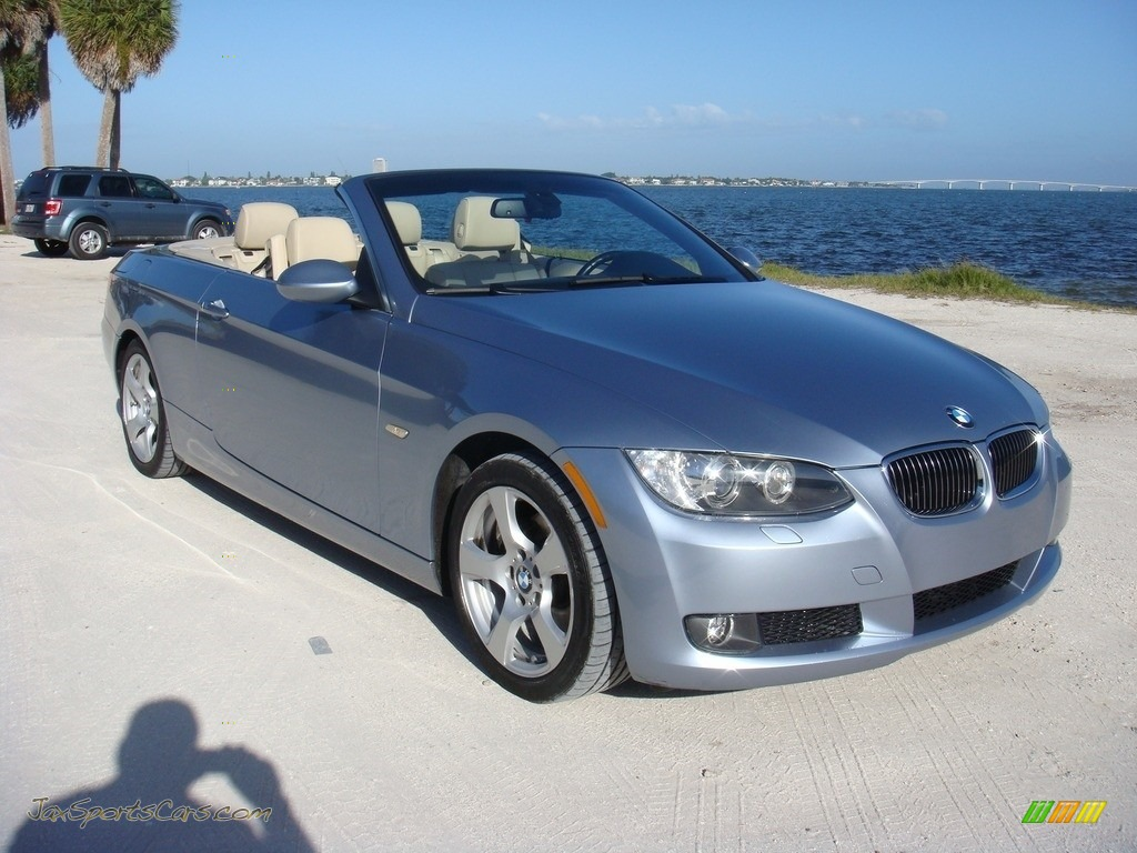 2009 3 Series 328i Convertible - Blue Water Metallic / Cream Beige Dakota Leather photo #1