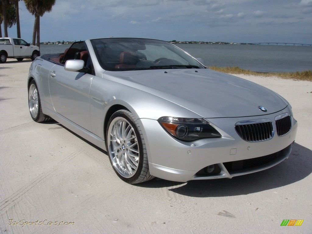 Titanium Silver Metallic / Chateau Red BMW 6 Series 650i Convertible