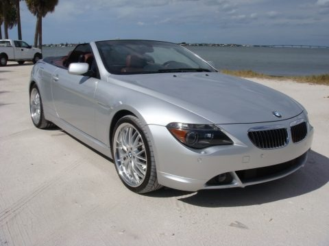 Titanium Silver Metallic 2006 BMW 6 Series 650i Convertible