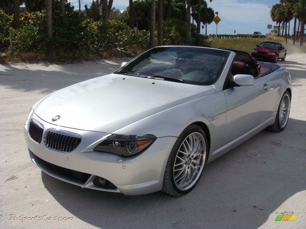 2006 6 Series 650i Convertible - Titanium Silver Metallic / Chateau Red photo #3