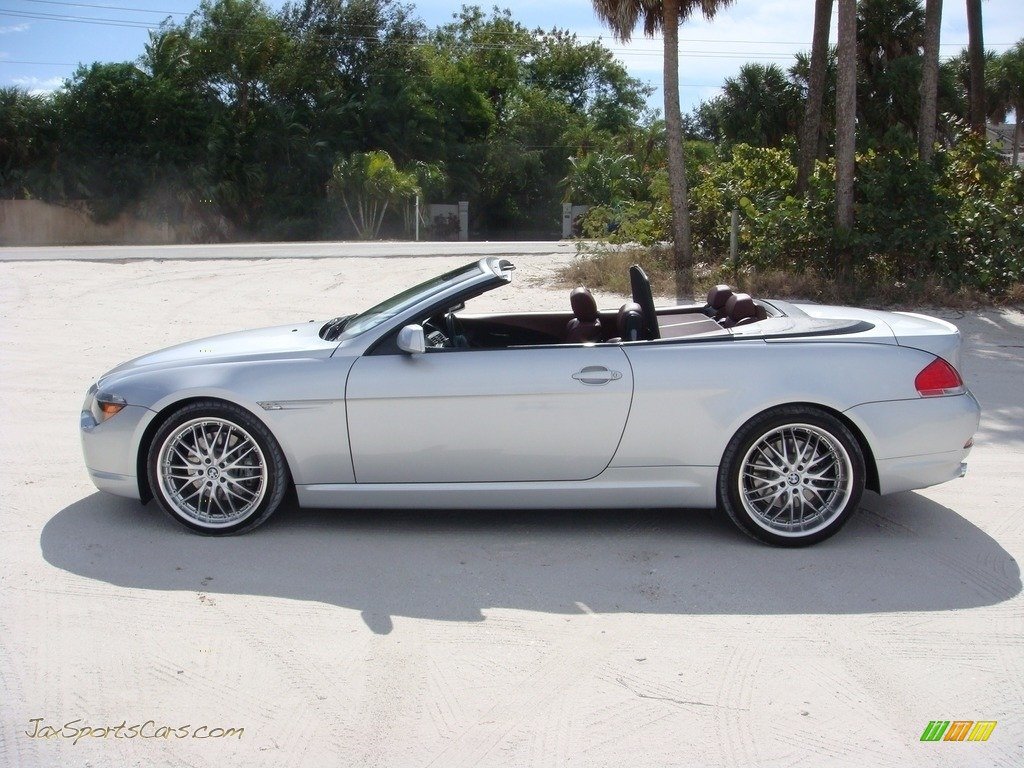 2006 6 Series 650i Convertible - Titanium Silver Metallic / Chateau Red photo #4