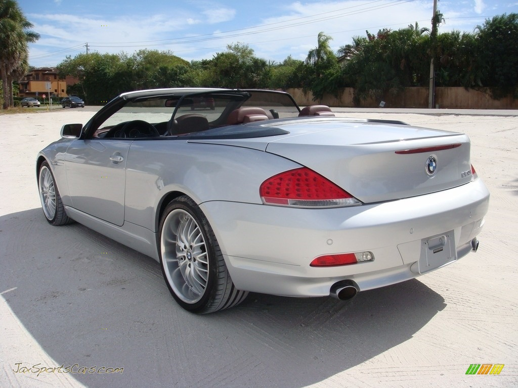 2006 6 Series 650i Convertible - Titanium Silver Metallic / Chateau Red photo #5