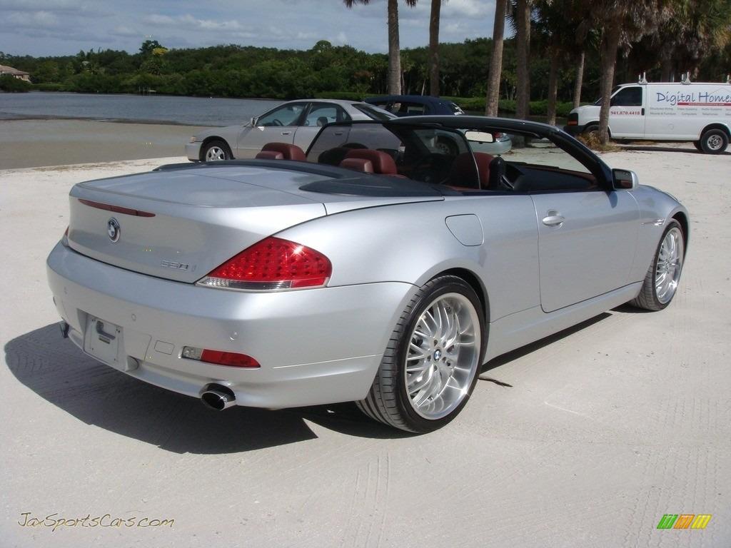 2006 6 Series 650i Convertible - Titanium Silver Metallic / Chateau Red photo #7