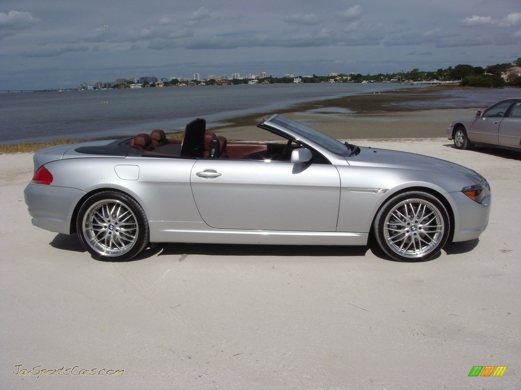 2006 6 Series 650i Convertible - Titanium Silver Metallic / Chateau Red photo #8