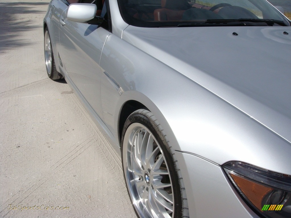 2006 6 Series 650i Convertible - Titanium Silver Metallic / Chateau Red photo #9