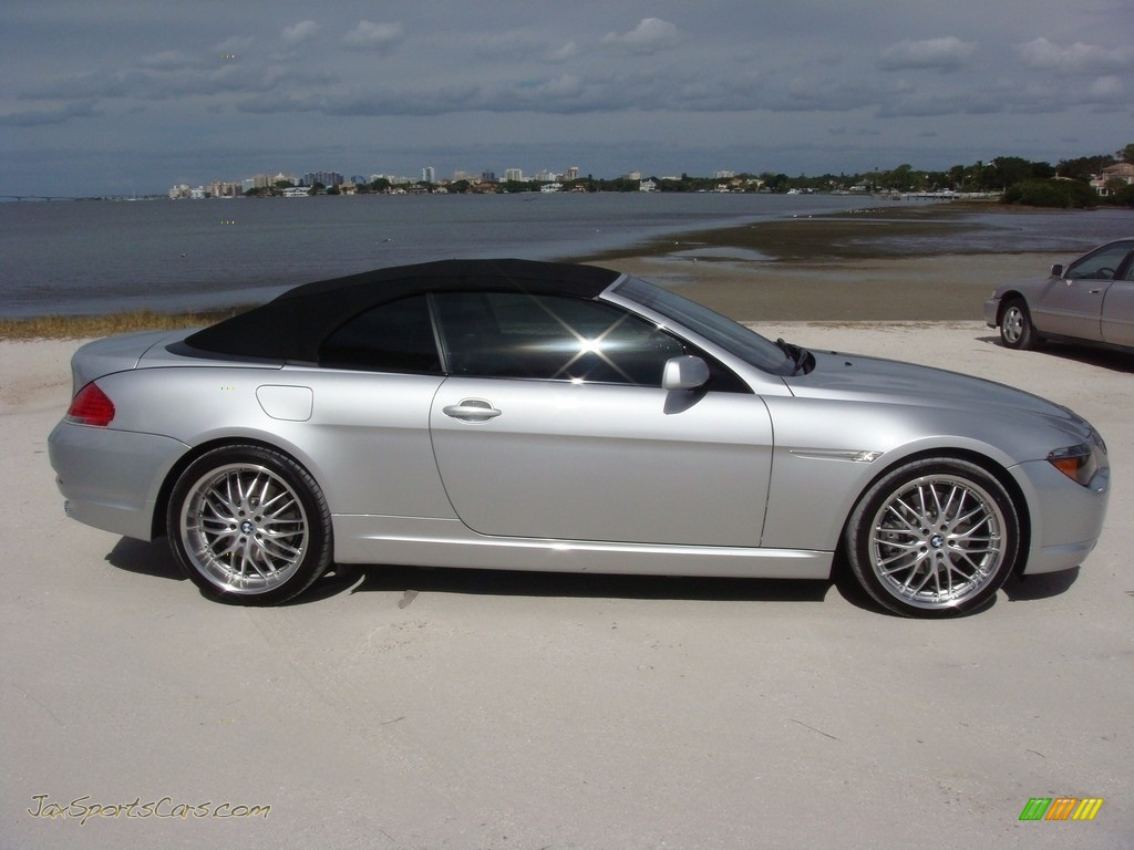 2006 6 Series 650i Convertible - Titanium Silver Metallic / Chateau Red photo #23
