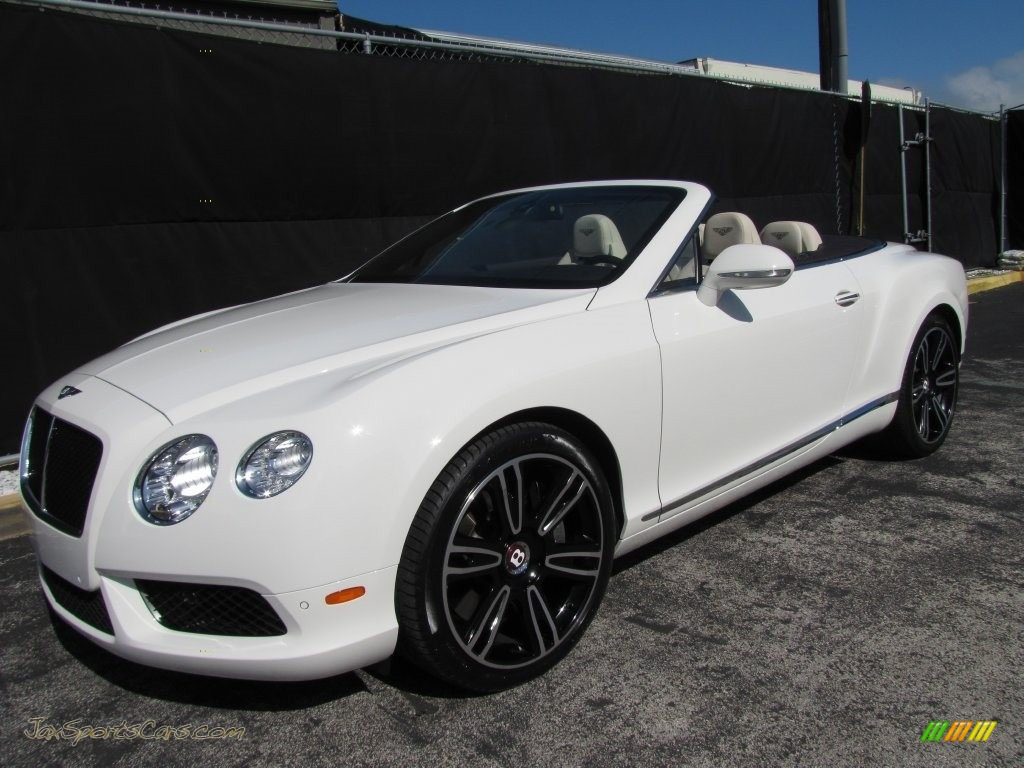 2013 Continental GTC V8  - Glacier White / White photo #1
