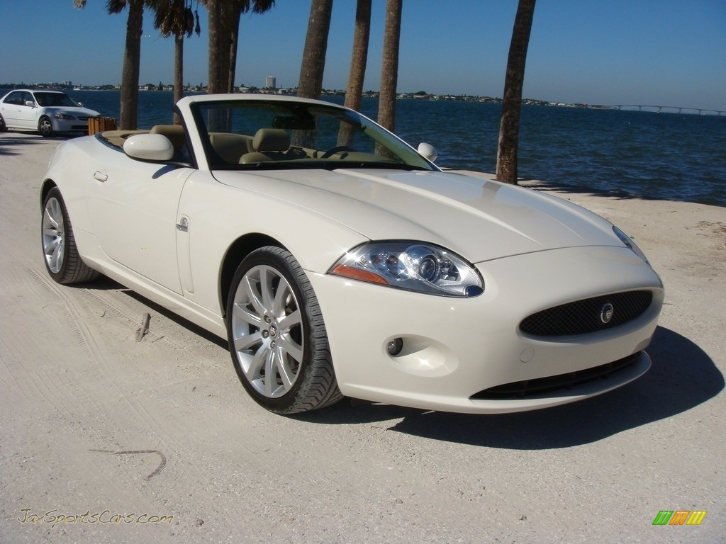 2008 XK XK8 Convertible - Porcelain / Caramel photo #1