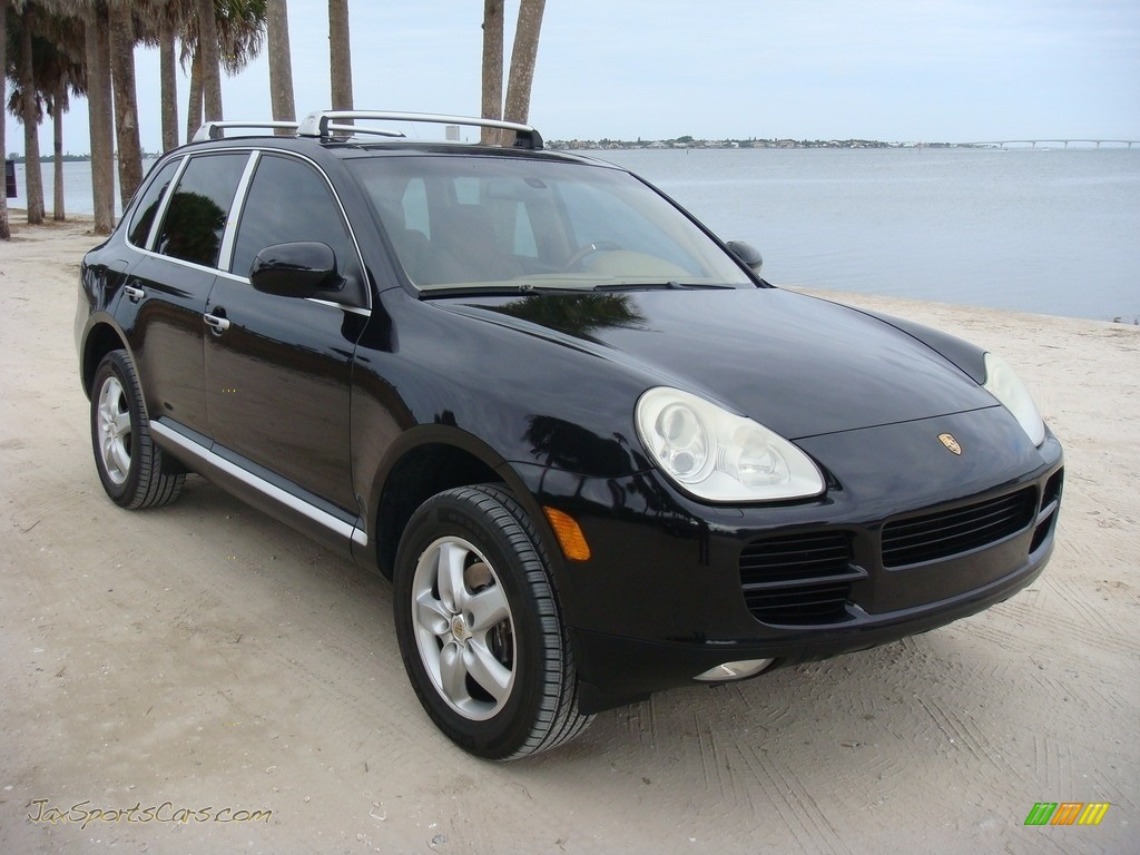2006 Cayenne Tiptronic - Black / Havanna/Sand Beige photo #1