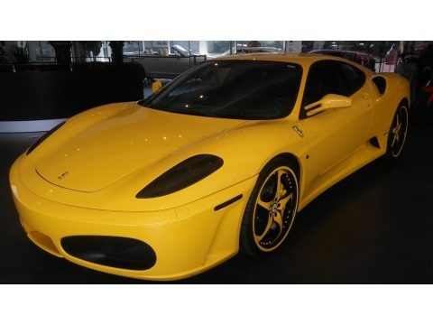 Yellow 2005 Ferrari F430 Coupe F1