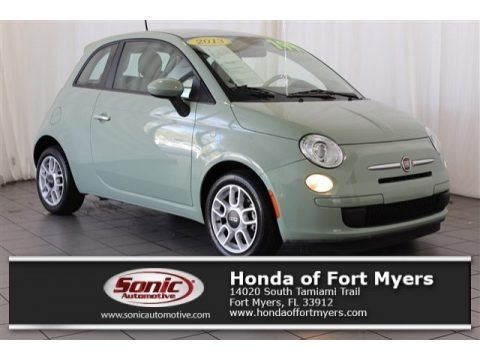 Verde Chiaro (Light Green) 2013 Fiat 500 Pop