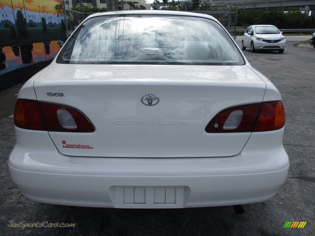 1999 Corolla VE - Super White / Pebble Beige photo #5