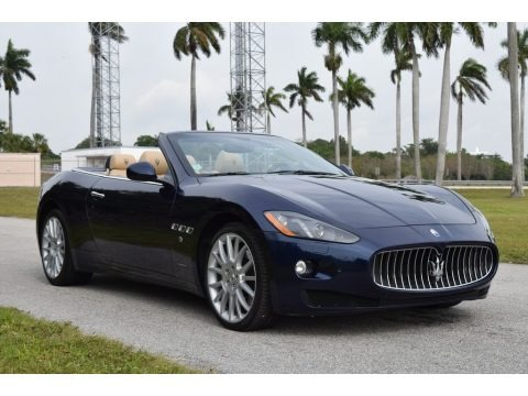 Blu Mediterraneo (Blue Metallic) 2014 Maserati GranTurismo Convertible GranCabrio