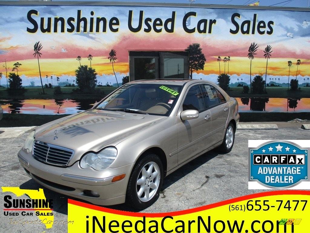 2003 C 240 Sedan - Desert Silver Metallic / Java photo #1