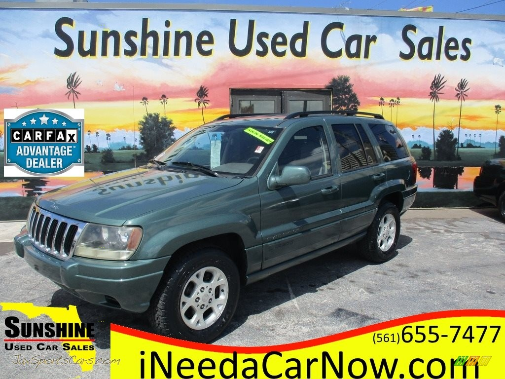 2003 Grand Cherokee Laredo - Onyx Green Pearlcoat / Sandstone photo #1