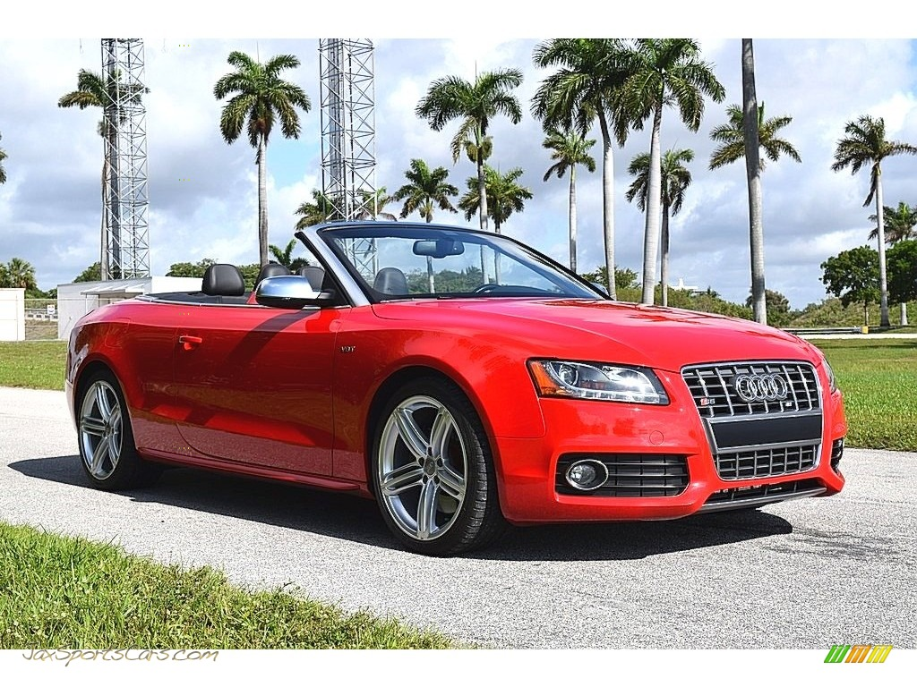 2012 S5 3.0 TFSI quattro Cabriolet - Brilliant Black / Black/Magma Red photo #1