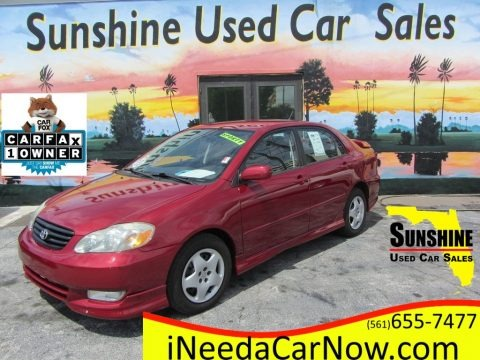 Impulse Red 2004 Toyota Corolla S