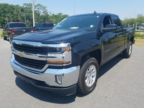 Black 2017 Chevrolet Silverado 1500 LT Double Cab