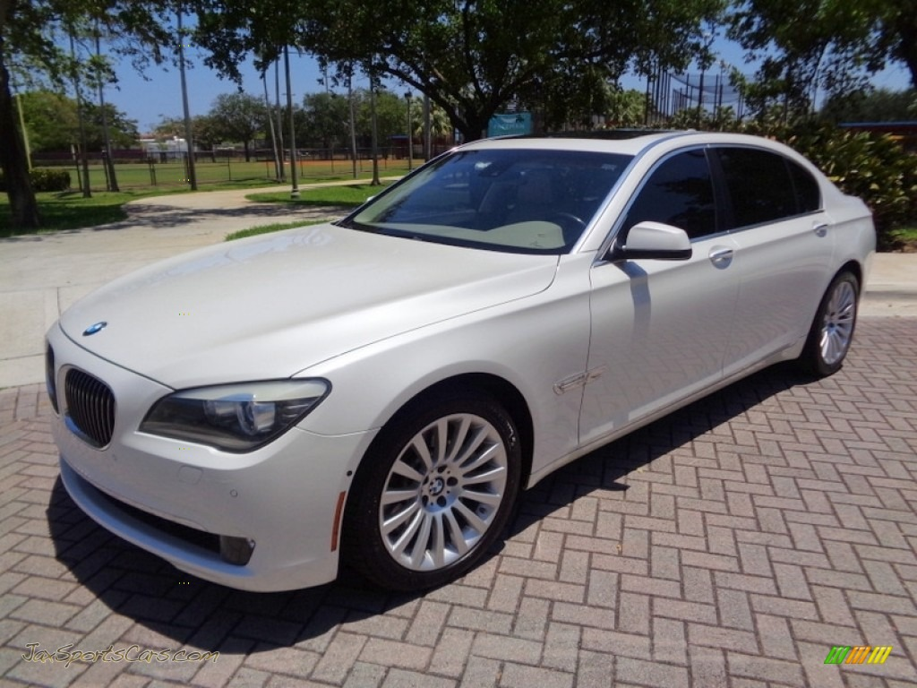 2009 7 Series 750Li Sedan - Mineral White Metallic / Champagne Full Merino Leather photo #1