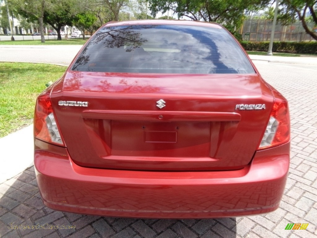 2008 Forenza  - Fusion Red Metallic / Grey photo #7